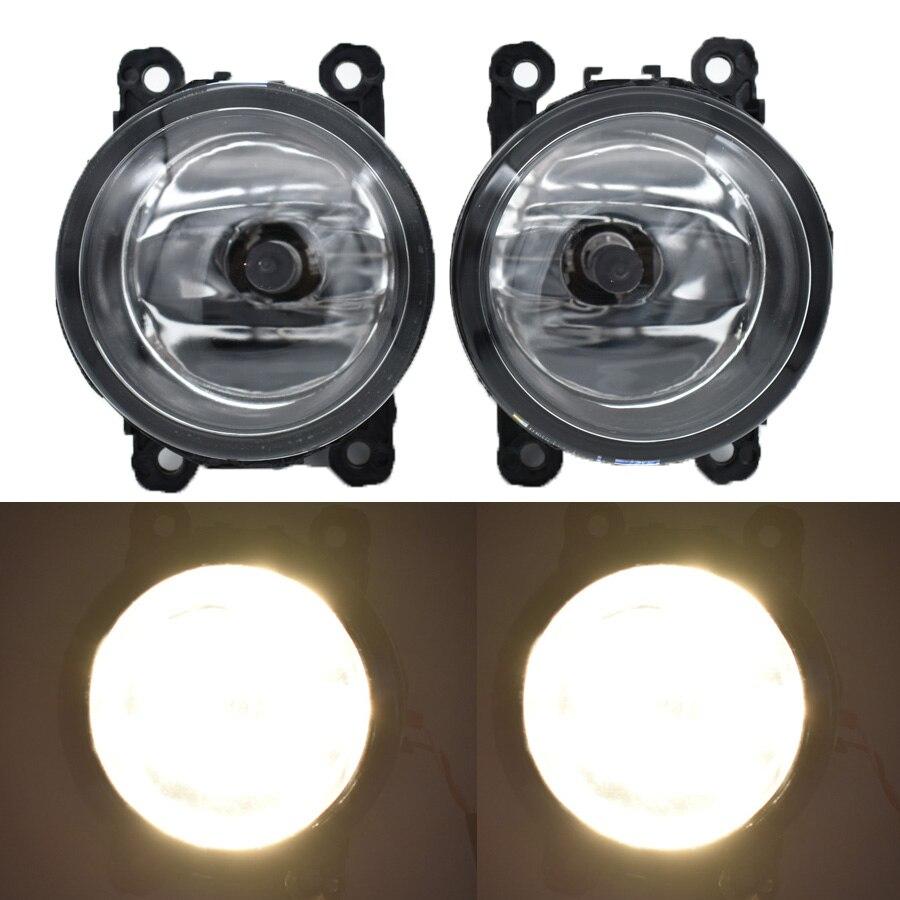 2PCS 3000K 4300K 6000K Angel Eyes Car Styling LED / Halogen Fog Lights Fog Lamps For Fiat PUNTO EVO 2010-2012 12V