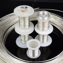 DINWEN 99.998% 高純度固体純銀ハイファイオーディオ DIY ヘッドホンイヤホンケーブル信号線裸線 0.1 ミリメートル 2.0 ミリメートル