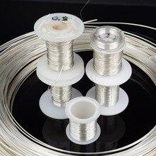 DINWEN 99.998% высокочистый однотонный чистый серебристый Hi Fi аудио наушники DIY, кабель для наушников, сигнальная линия, голый провод 0,1 мм 2,0 мм