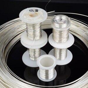 Image 1 - DINWEN 99.998% di Elevata Purezza Solido Puro Argento Hifi Audio FAI DA TE Cuffia del Trasduttore Auricolare Cavo di Linea di Segnale Filo Nudo 0.1 millimetri  2.0 millimetri