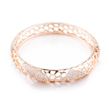 Emma Florence Luxury New Fashion Gold-color Chain Link Bracelet for Women Ladies Shine Cubic Zircon Crystal Jewelry Woman Gift