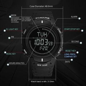 Image 4 - PANARS boussole montre Sport plein air hommes montre numérique électronique montres bracelets mâle chronographe chronomètre antichoc étanche