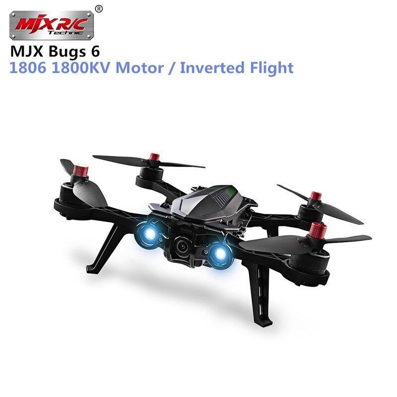 D'origine MJX Bugs 6 250mm RC Racing Brushless Drone RTF 1806 1800KV Moteur/Deux voies 2.4 ghz 4CH Émetteur/Inversé Vol