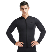 FREE SHIPPING 3mm diving wetsuit jackets men neoprene jacket for diving kitesurfing clothes suit front zip