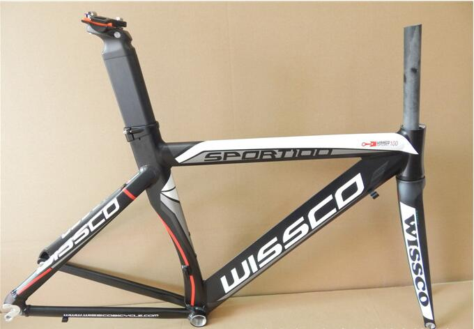 NEW arrival cool price original Wisso Matte 700C 50CM aluminum and carbon road bike frame with