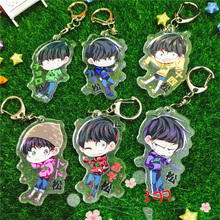 6pcs/set Anime Keychain Osomatsu-san Matsuno Ichimatsu Jyushimatsu Cool Boys Keychian Keyrings Pendant llavero kulcstarto