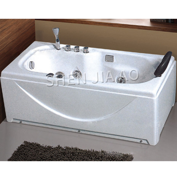 Bañera individual Rectangular de acrílico, bañera individual de 1,4 m, Jacuzzi 1092, bomba de Surf, interruptor de ducha de agua caliente y fría, 1 ud.
