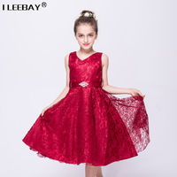 2015 New Flowers Dress For Girls For Wedding And Party Summer Baby Clothes Princess Party Kids