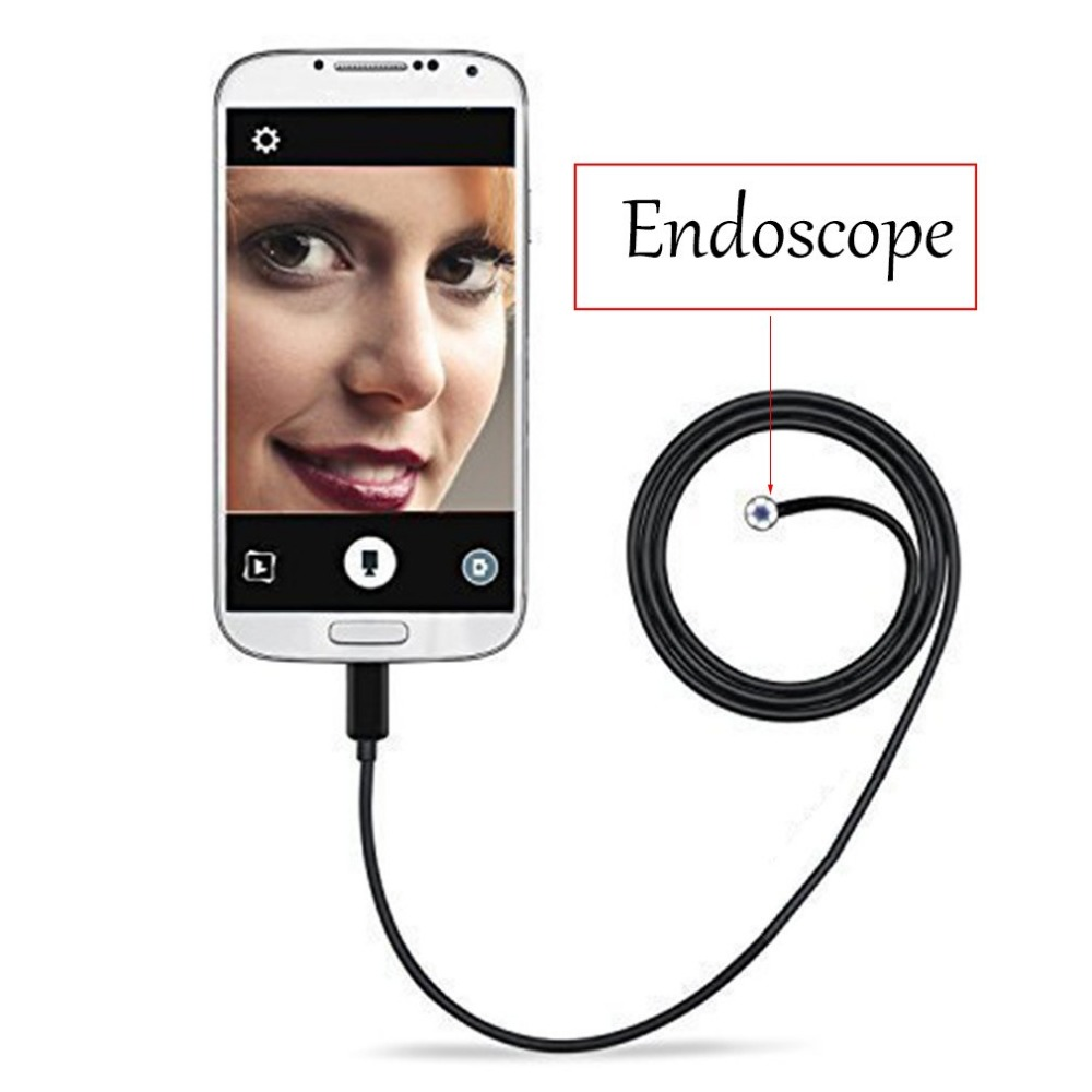 Waterproof HD Mini Camera 5.5mm Endoscope USB Camera Borescope Photo Capture Inspection Scope 6LEDs Tube for Android Phone PC цена