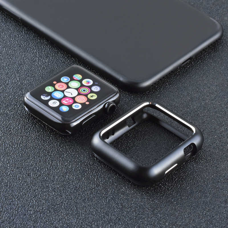 detailed pictures aa6c8 1bb16 Magnetic Adsorption Metal Frame Protective Case for Apple Watch 38MM 42MM  Series 1 2 3 for iwatch 440MM 44MM Cover Bumper