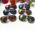 2016 new Multicolor Reflective mercury Children Sunglasses Boys/Girls Gafas Oculos UV400 movement PC glasses