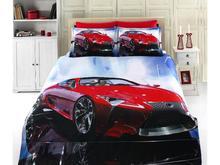 Комплект постельного белья двуспальный-евро VIRGINIA SECRET, Bamboo, машина, красный, 3D