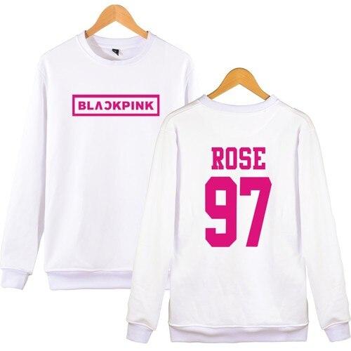e4f2f897 ... KPOP BLACKPINK Album Pullover Hoodies Women JENNIE ROSE LISA JISOO  Sweatshirt Hip Hop Black Pink Hoodie ...