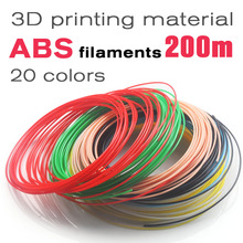 3D pen Filament ABS plastic 1.75mm Many colores 10/20Colores(10M/color,5M/color)perfect For 3D Printing Pen and 3D Printer DIY