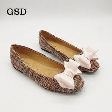 Nuove Donne di Modo delle scarpe Comode scarpe Basse Big Bowknot Punta  Quadrata Ballerine Primavera  c5f1e8ae957