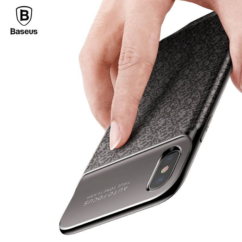 Baseus 3500 mAh cargador de batería para el iPhone X banco carga Ultra fino Powerbank cargador para iPhone X