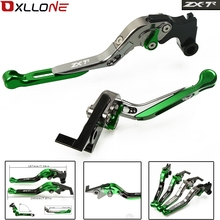 For KAWASAKI ZX7R ZX-7R ZX 7R 1989-2003 2002 2001 2000 1999 CNC Motorcycle Adjustable Folding Brake Clutch Levers With LOGO