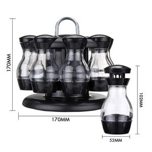 Image 5 - Salz Und Pfeffer Schüttler Set Von 8 Flaschen Mit 360 ° Rotierenden Halter Salz & Pfeffer Shaker Set