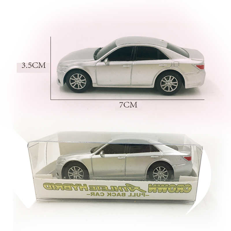 1/64 Plastic Car Model Realstic 7Cm Pull Back Car Good Quality Crown No Lights Pocket Toys Presents Japan Toys