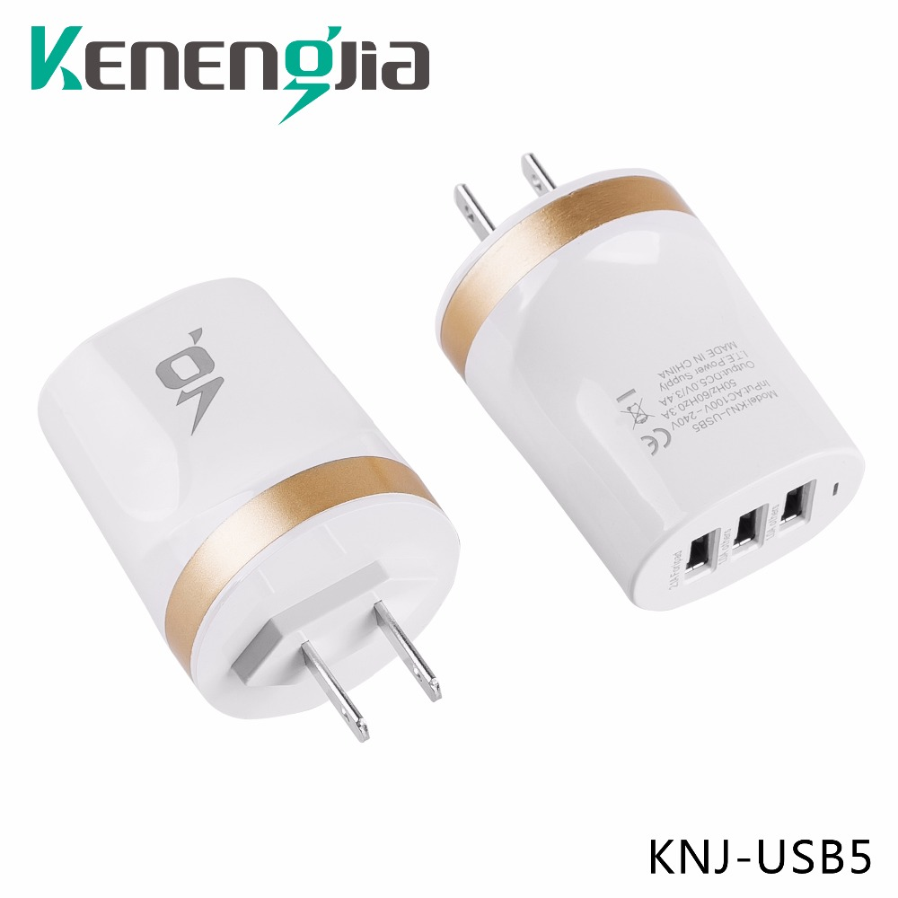 2017 5V 4.1A 3 Port USB Charger Phone Power Adapter USA Canada Micro USB Wall Mobile Charger For iPhone iPad Smart Phones hm 06 wired 6 port usb desktop power adapter charger for iphone ipad ipod white
