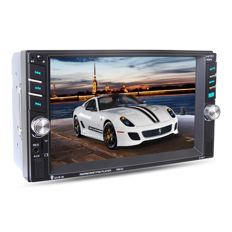 NEW 2 DIN Car Radio Player autoradio 6.6'HD Touch screen Bluetooth Rear View Camera Stereo FM/MP3/MP5/Audio/USB Auto Electronics цена