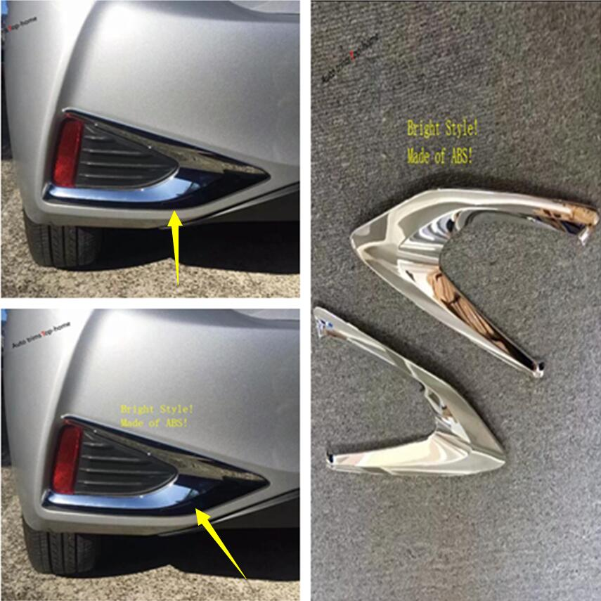 Yimaautotrims Rear Fog Lights Lamp Foglight Frame Cover Trim 2 Pcs Fit For Toyota YARIS VITZ 2018 2019 Exterior Chrome ABS in Chromium Styling from Automobiles Motorcycles