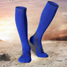 1pair Mens High Tube Compress Socks Football Soccer Marathon Cycling Running Camping Quality Knee-High