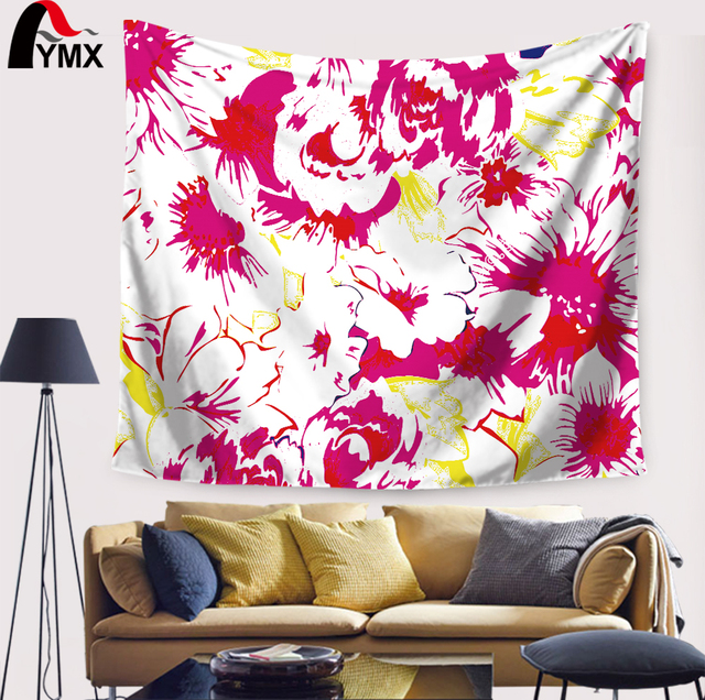 Geometric Pattern Wall Tapestry Hanging Polyester Fabric Indian ...