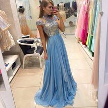 bdd4124654c7a 2019 Yeni Kristal Seksi Şifon Abiye Klasik Abiye giyim Vestidos De Fiesta  yüksek kaliteli elbise Örgün