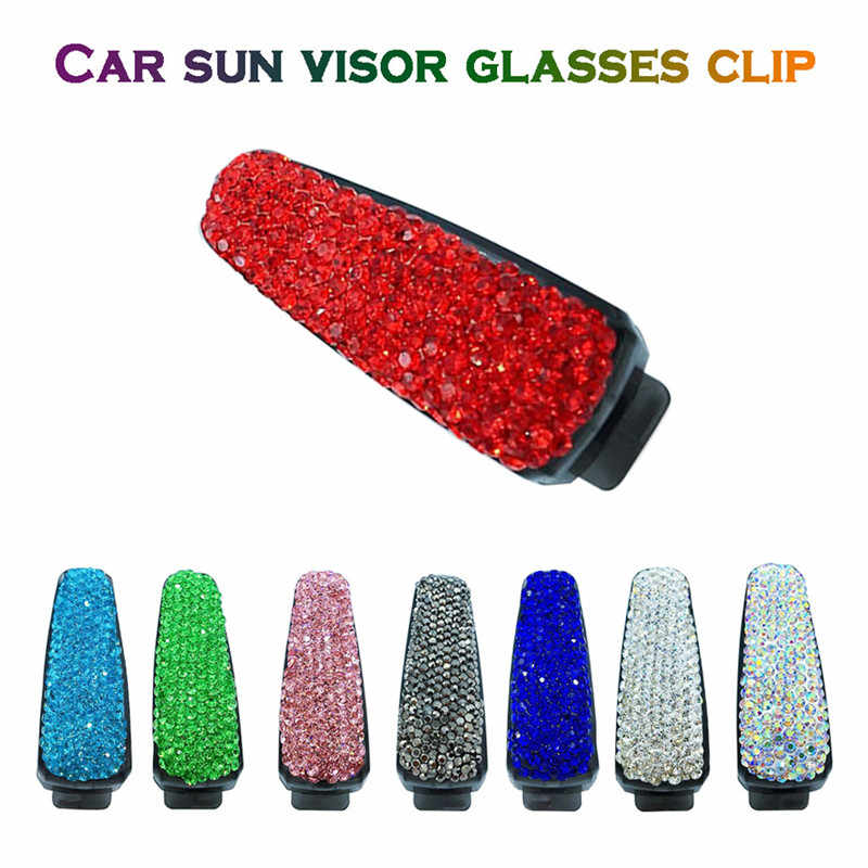 Carprie carro óculos clipe 1 pc universal diamante carro óculos de sol viseira titular clipe strass CS-0002 dropship ap29