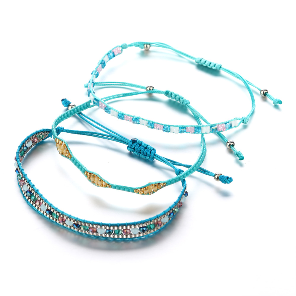 Summer Bracelets: Friendship Bracelets Women Gifts Beads Adjustable Summer