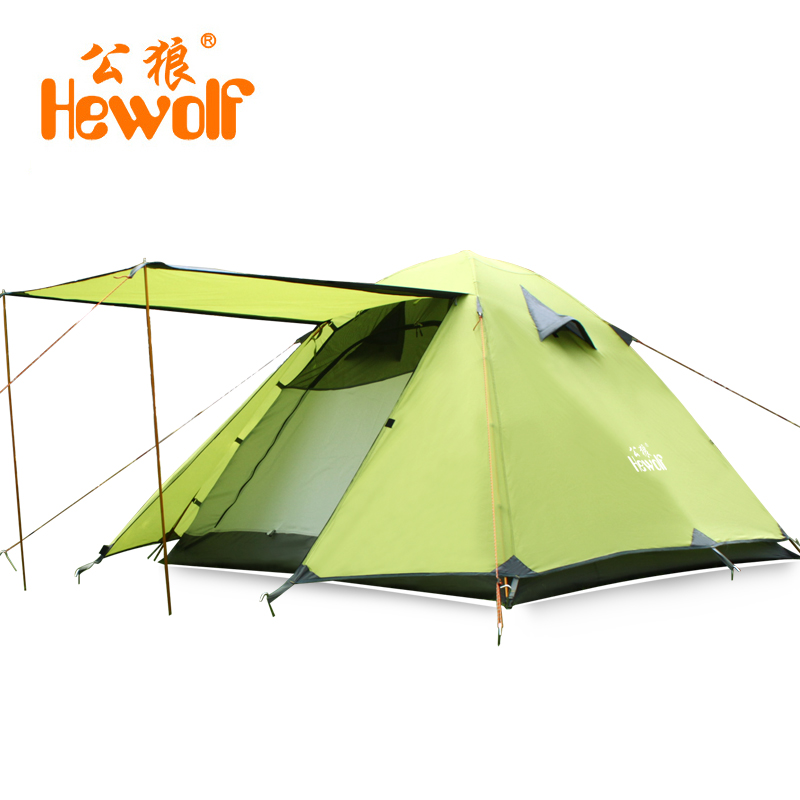 TNT Free Shipping Hewolf Brand Outdoor 3 4 people aluminum tents c&ing supplies double double rain c&ing equipment tents-in Tents from Sports ...  sc 1 st  AliExpress.com & TNT Free Shipping :Hewolf Brand Outdoor 3 4 people aluminum tents ...