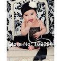 Lote 10 unids - Baby Ruffles Pettiskirt Tutu falda - negro Pettiskirt un tamaño 0 - 6 M