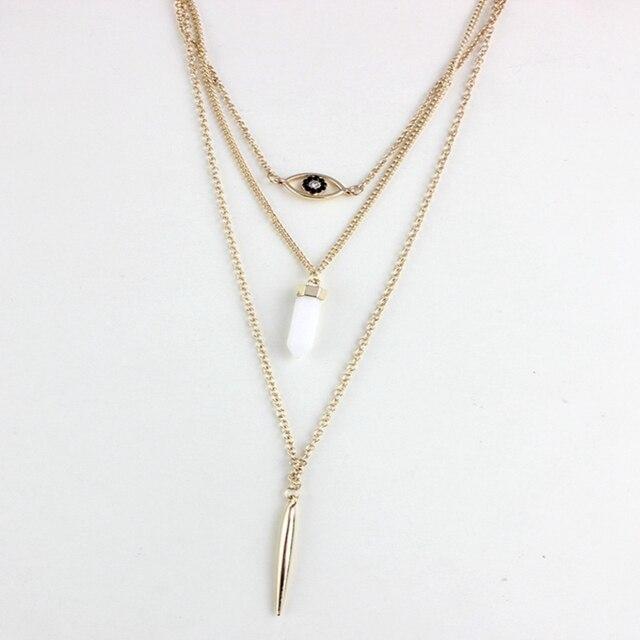 Chicvie яркое ожерелье с бусинами подвеска золотого цвета ожерелья