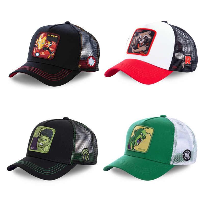 New Marvel Superhero ROCKET หมวก Snapback หมวกผ้าฝ้ายหมวกเบสบอลหมวกสำหรับผู้ชายผู้หญิง Hip Hop หมวก Trucker ตาข่ายหมวก Dropshipping