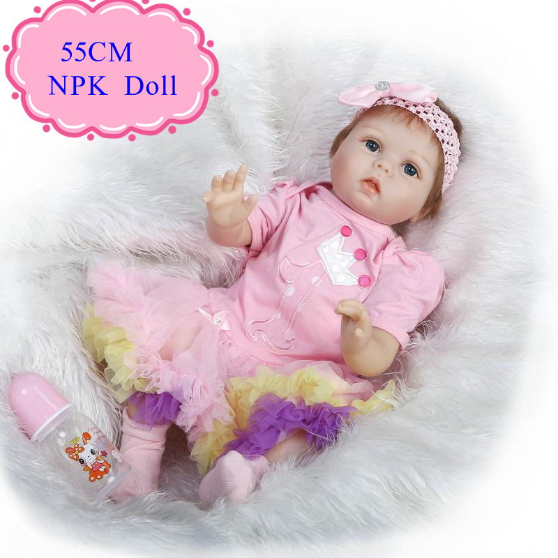 Big Eyes 55cm 22'' Adora Reborn Baby Girl Doll With Beautiful Hair Band Best Price Bebe Reborn Realista Early Enducational Doll big beautiful eyes косметический набор косметический набор big beautiful eyes