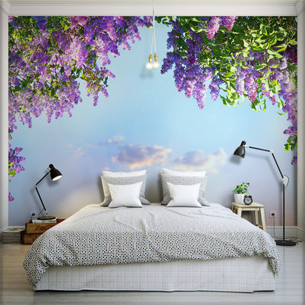 Buy 3d large seamless living room wall painting tv wall background wall paper for What type of paint to use on bedroom walls