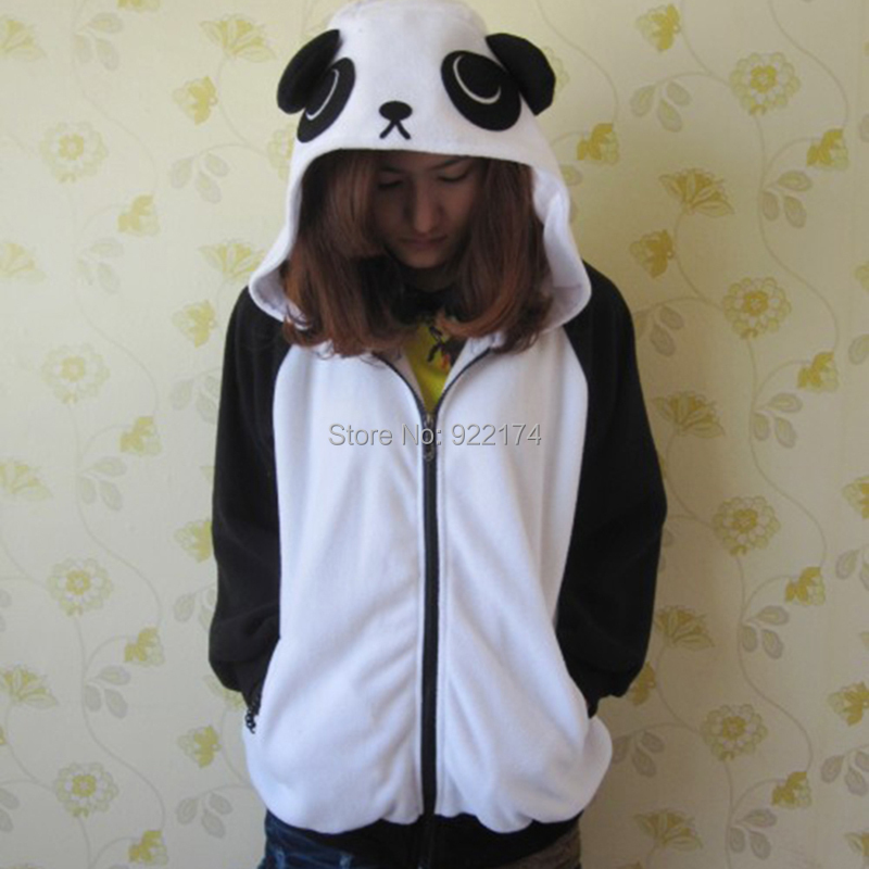 2016 spring New panda hoodie jacket lady animal hoodie panda women codes panda sweatshirt with ears Cosplay Animal hoodies