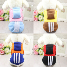 Купить с кэшбэком Pet Clothes For Dogs Coat Jackets Cotton Dog Clothes Puppy Pet Overalls For Dogs Costume Dog Hoodies Cat Clothing Pets Outfits
