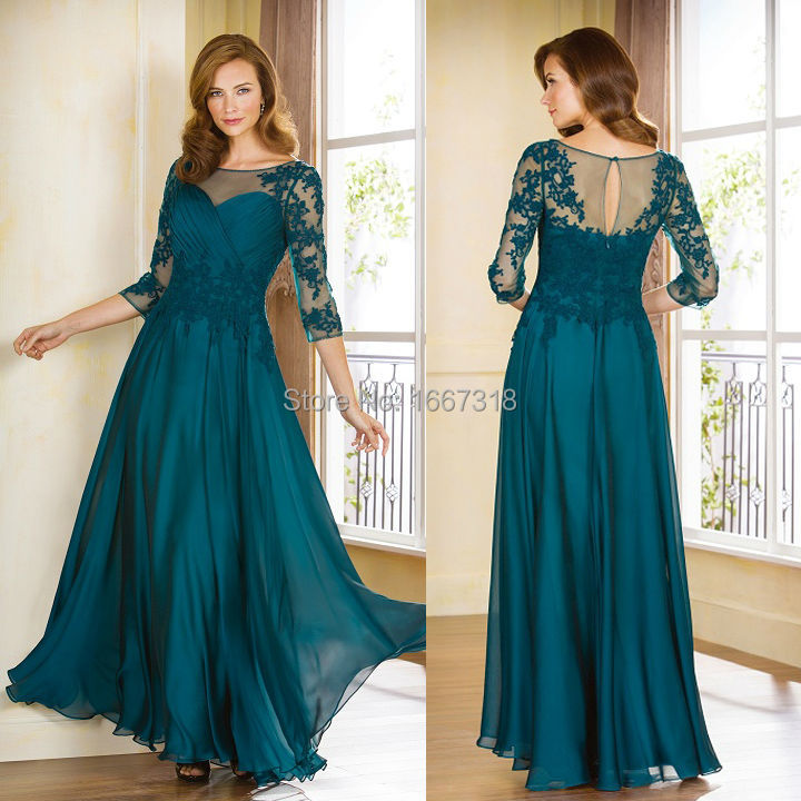 Floor Length Gowns with Sleeves
