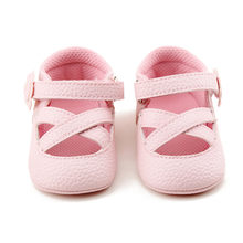 Delebao Newdesign Summer Stripe Fashionable Element Pink Baby Girl Sandals For 0-18 Months Inant Toddler Sandals(China)