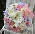 Высокое качество ручной работы люкс для невесты свадебный букет искусственных цветов роз гортензии ромашки цветочный декор дома цветок