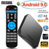 2019 MECOOL KM9 Android 9.0 TV Box Amlogic S905X2 Quad Core 4GB DDR4 RAM 32GB ROM 4K WiFi Smart TVBox USB 3.0 BT4.1 Media Player