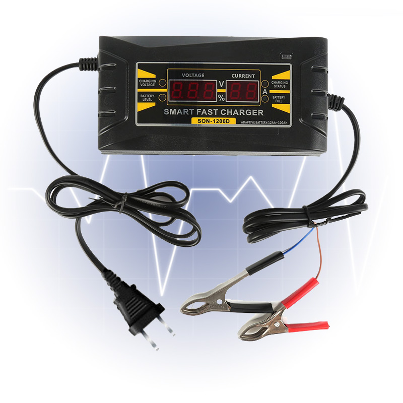 Smart Car Battery Charger 12V 10A Lead acid Battery Charger