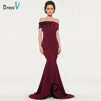 Dressv Elegant Off The Shoulder Short Sleeves Mother Of Bride Dress Floor Length Zipper Up Long
