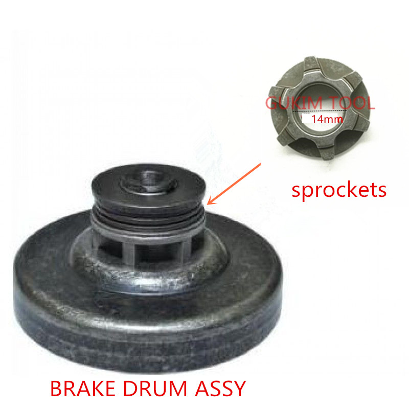 Gear sprockets BRAKE DRUM ASSY For MAKITA UC4030A UC3530A UC3030A UC4530A UC4051A UC3051A UC3551A UC4551A 125331-7 221521-1 цена