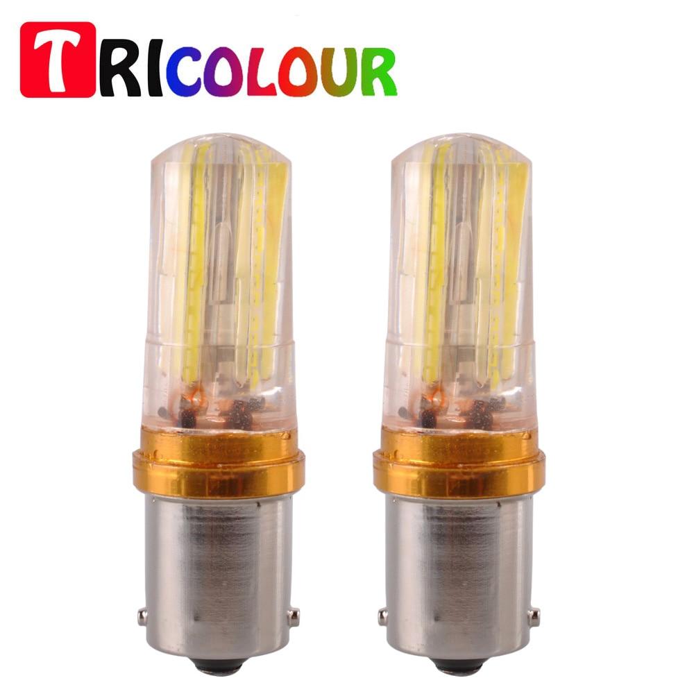 Ba15s Led Super Tricolore Clignotant P21w 2x1156 Strobe Ampoule 4A5RjL3