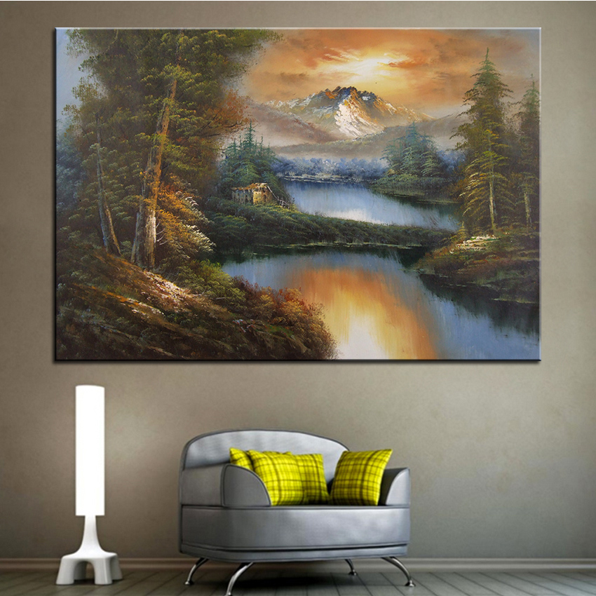 Extra Large wall Painting of reflections Home Office Decoration paint Canvas Prints No Framed Canvas wall picture Giclee art no frame canvas