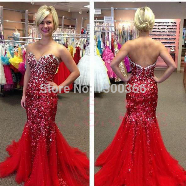 Online Get Cheap Sparkly Red Prom Dresses -Aliexpress.com ...