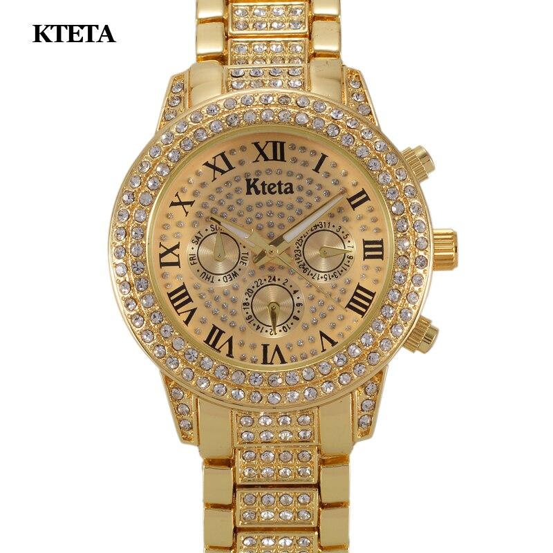 2018 goldene Frauen Uhren Mode Top-marke Luxus Famous Quarzuhr Damen Handgelenk Uhr Female Hodinky Relogio Feminino